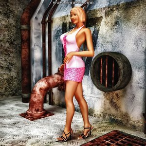 Pink Dress in the Factory Adult Empire Comics