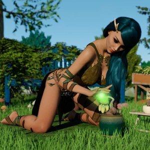Lustful Desires 3 – The Druid Affect3D Comics