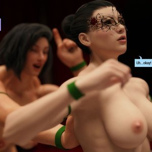 Affect3D Comics The F.U.T.A - Ingrid and Margaret vs Shaylah and Olivia gallery image-008