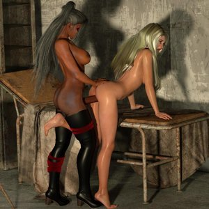 Affect3D Comics Ultragirl and Futa Panther 2 gallery image-009