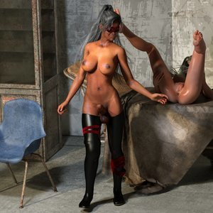 Affect3D Comics Ultragirl and Futa Panther 2 gallery image-036