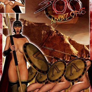 300 Amazons – Queen of Sparta BarbarianBabes Comics