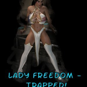 Lady Freedom Trapped comic 001 image