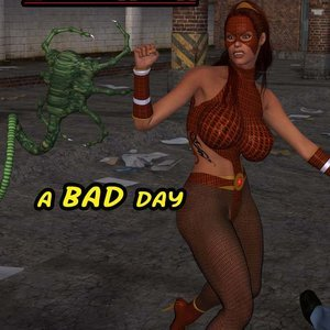 Red Mamba – A Bad Day Captured-Heroines Comics