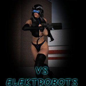 Shadow Huntress vs Elektrobots Captured-Heroines Comics