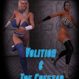 Volition and The Cheetah Captured-Heroines Comics