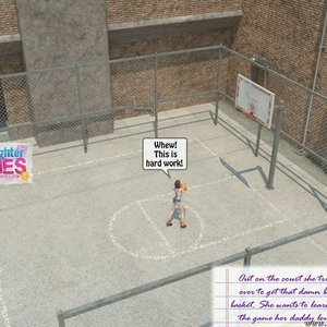 Basketball Court Dad and Daughter Diaries Comics