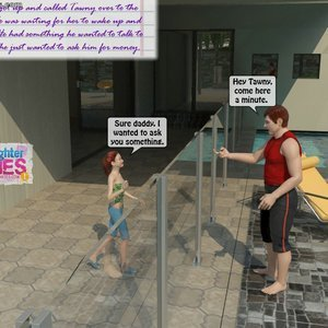 Dad and Daughter Diaries Comics Clean the Pool gallery image-002