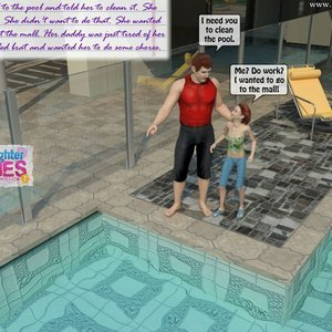 Dad and Daughter Diaries Comics Clean the Pool gallery image-003