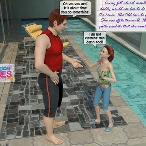 Dad and Daughter Diaries Comics Clean the Pool gallery image-004