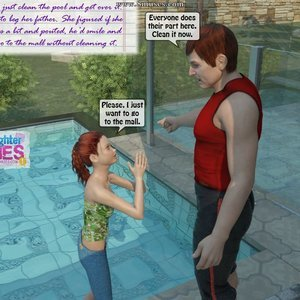 Dad and Daughter Diaries Comics Clean the Pool gallery image-005