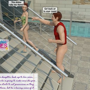 Dad and Daughter Diaries Comics Clean the Pool gallery image-024
