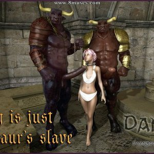 Lacey is just a Minotaurs Slave (Damn3D Comics) thumbnail