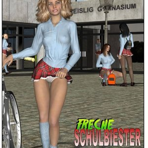Cheeky School Minxes comic 001 image
