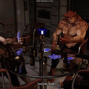 Poker Game DarkSoul3D Comics