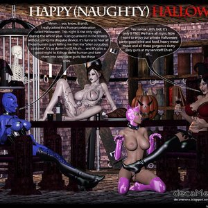 Happy Halloween – Lilith and Brandi sissy sluts party (Decameron X Comics) thumbnail