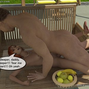 Drawingincest Comics Tan stick feels better with father gallery image-021