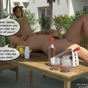 Drawingincest Comics Tan stick feels better with father gallery image-027