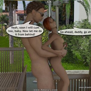 Drawingincest Comics Tan stick feels better with father gallery image-028
