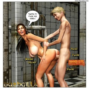 Dubh3d-Dubhgilla Comics Angelina - The Fan gallery image-008