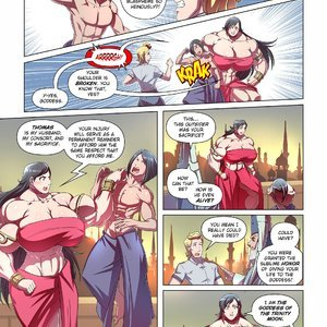 Giantess Fan Comics Goddess of the Trinity Moon - Issue 3 gallery image-005