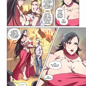 Giantess Fan Comics Goddess of the Trinity Moon - Issue 3 gallery image-007