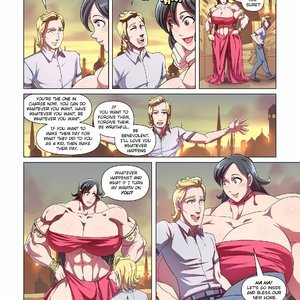 Giantess Fan Comics Goddess of the Trinity Moon - Issue 3 gallery image-010