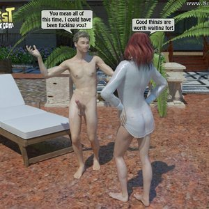 IncestIncestIncest Comics Bro and Sis Caught by Daddy gallery image-007