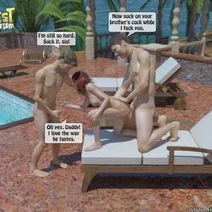 IncestIncestIncest Comics Bro and Sis Caught by Daddy gallery image-030