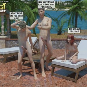IncestIncestIncest Comics Bro and Sis Caught by Daddy gallery image-031