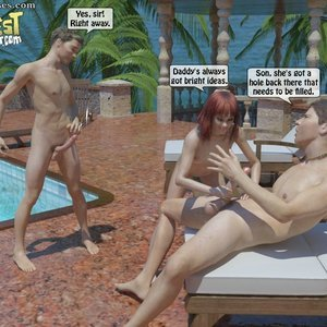 IncestIncestIncest Comics Bro and Sis Caught by Daddy gallery image-035