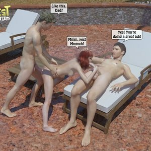 IncestIncestIncest Comics Bro and Sis Caught by Daddy gallery image-036