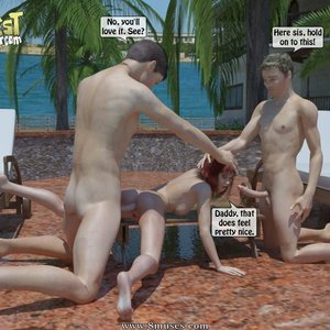 IncestIncestIncest Comics Bro and Sis Caught by Daddy gallery image-040