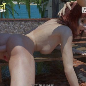 IncestIncestIncest Comics Bro and Sis Caught by Daddy gallery image-041