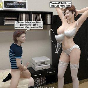 IncestIncestIncest Comics Caught Masturbating to Mom gallery image-015