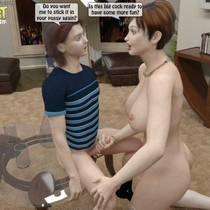 IncestIncestIncest Comics Caught Masturbating to Mom gallery image-035