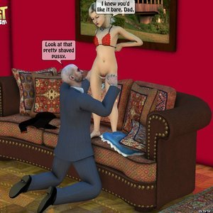 IncestIncestIncest Comics Dad & Daughter Special Night gallery image-013