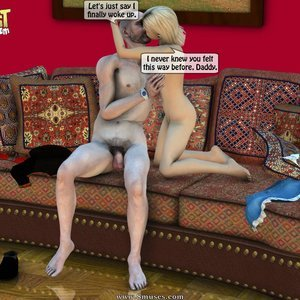 IncestIncestIncest Comics Dad & Daughter Special Night gallery image-016