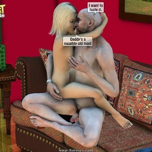 IncestIncestIncest Comics Dad & Daughter Special Night gallery image-023