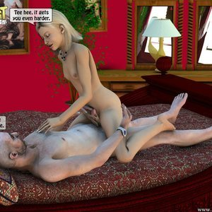 IncestIncestIncest Comics Dad & Daughter Special Night gallery image-036
