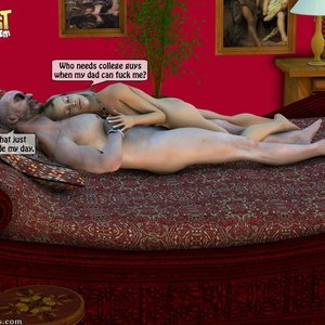 IncestIncestIncest Comics Dad & Daughter Special Night gallery image-044