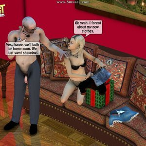 IncestIncestIncest Comics Dad & Daughter Special Night gallery image-047