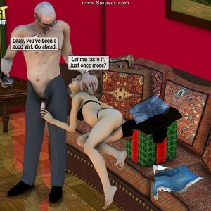 IncestIncestIncest Comics Dad & Daughter Special Night gallery image-048