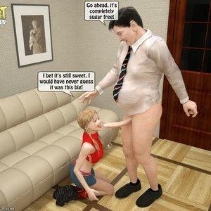 IncestIncestIncest Comics Naughty Granddaughter Plays with Grandpa gallery image-014