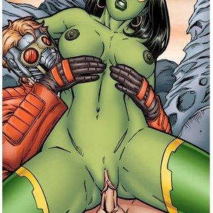 Gamora pleasures herself LeandroComics Collection