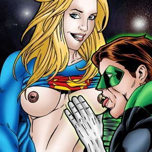 Green Lantern and Supergirl have a cosmic fuck LeandroComics Collection
