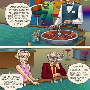 Seduced Amanda Comics Visiting Casino gallery image-004