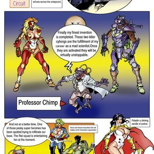 Paladin in short Circuit Superheroine Central Comics