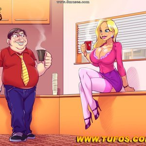 Nerd Fucks The Slut Secretary Tufos Comics