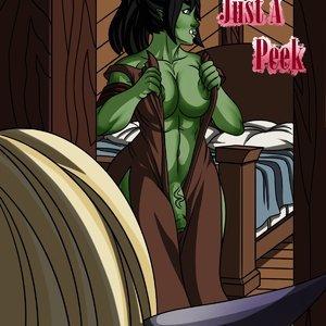 Just A Peek comic 001 image